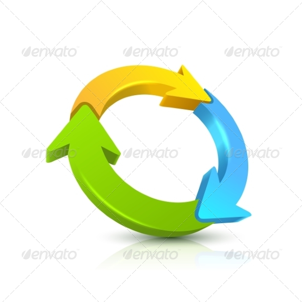 GraphicRiver Circular Arrow 3D 8755750