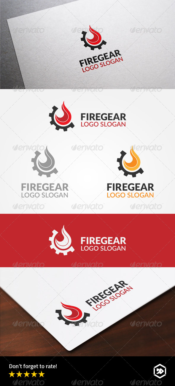 GraphicRiver Fire Gear or Fire Machine Industry 8755810