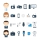 Set of Flat Colorful Vector Journalism Icons - GraphicRiver Item for Sale
