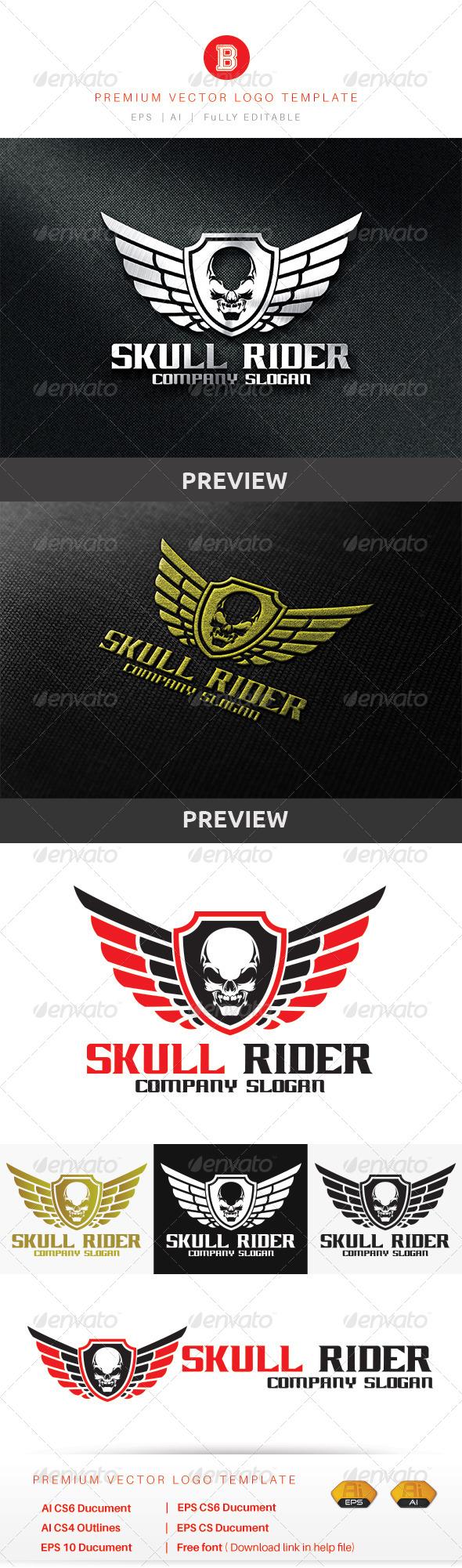 GraphicRiver Skull Rider 8755931