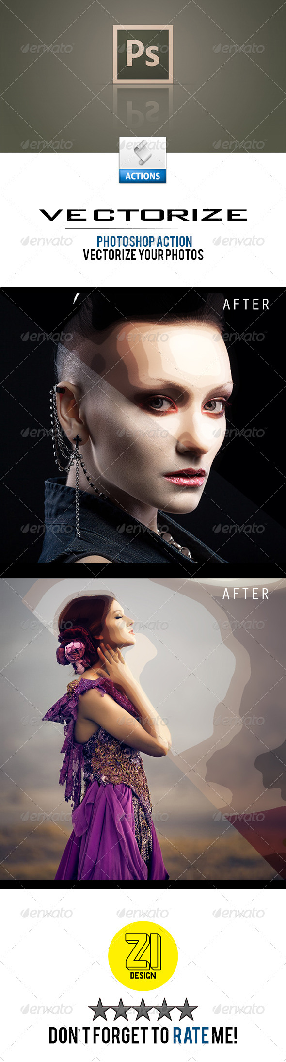 GraphicRiver Vectorize Photoshop Action 8755947