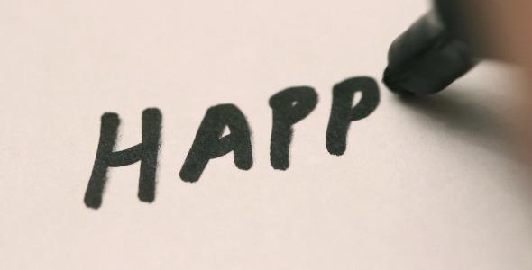 Handwriting Happy Birthday