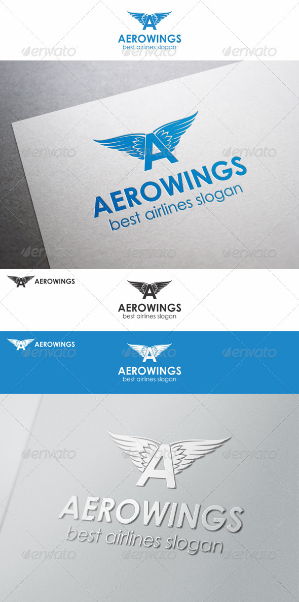 GraphicRiver Aero Wings Letter A Logo 8756086
