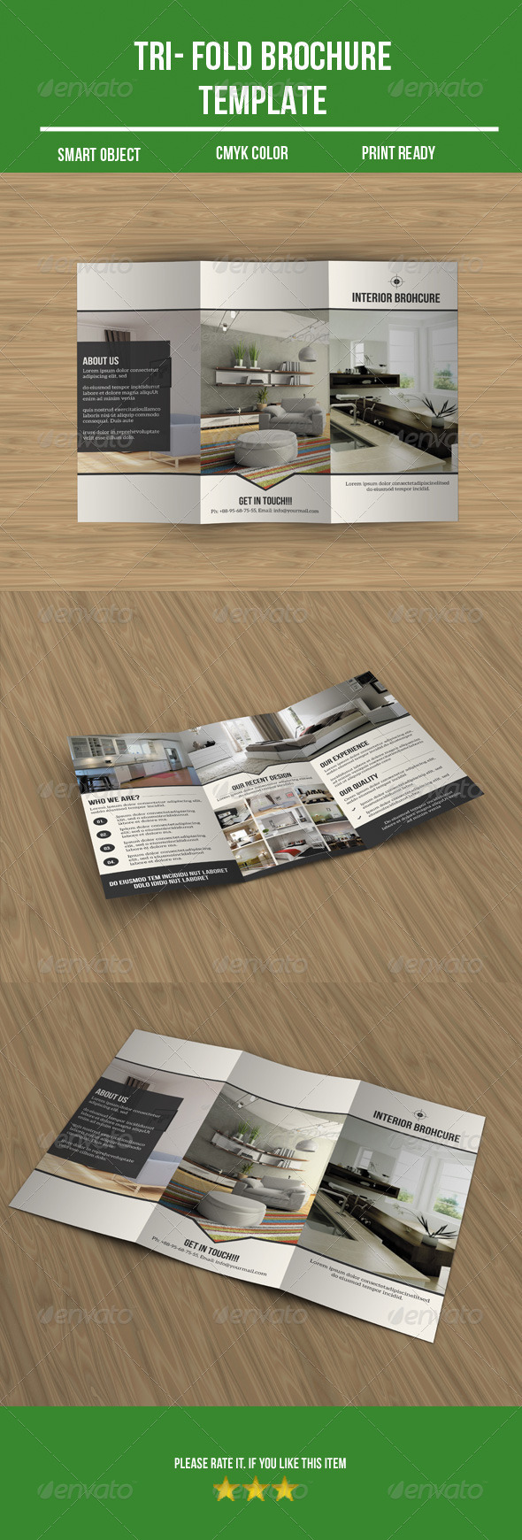 GraphicRiver Interior Tri- Fold Brochure 8756146