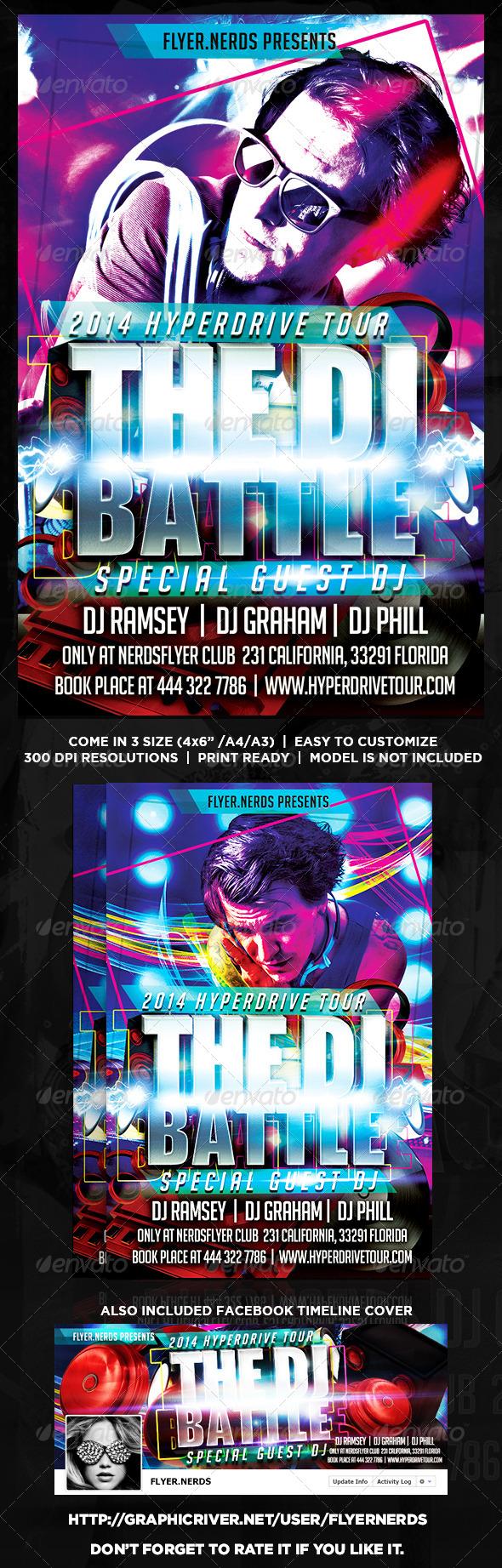 GraphicRiver The DJ Battle Flyer 8756147