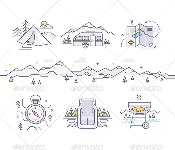 GraphicRiver Camping Lifestyle 8756206