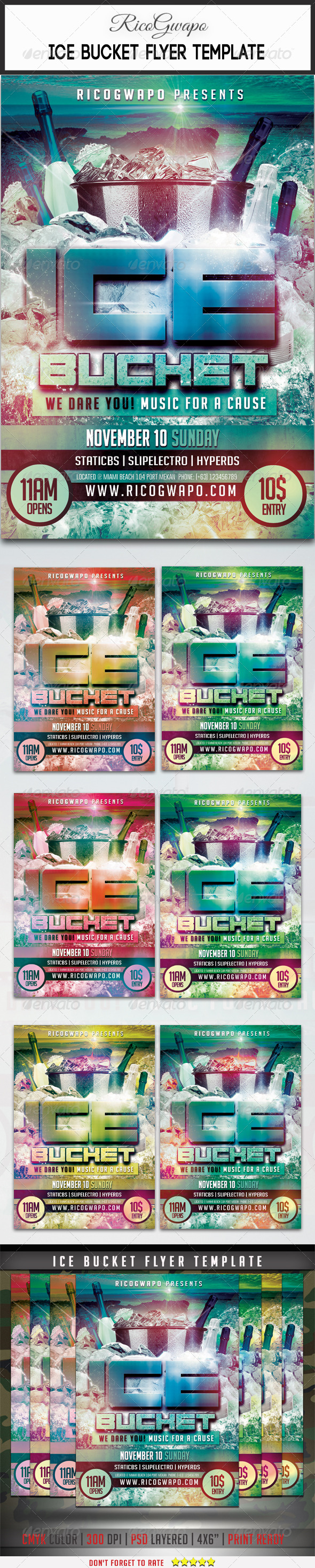 GraphicRiver Ice Bucket Flyer Template 8741061