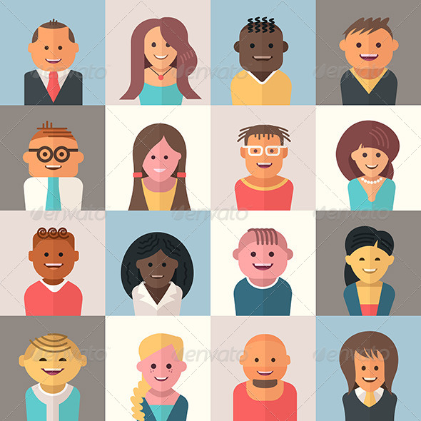 GraphicRiver People Avatars 8756295 Created: 1