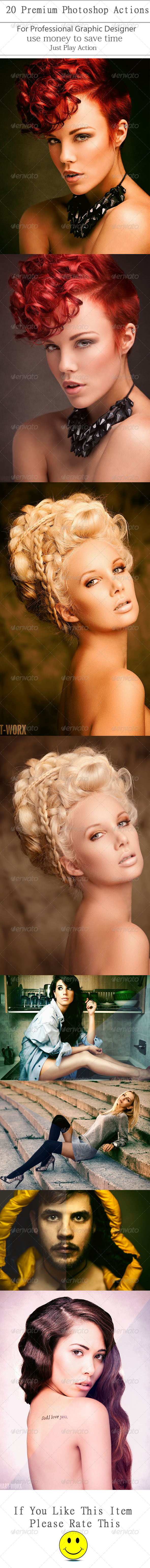 GraphicRiver 20 Premium Photoshop Actions 8756308
