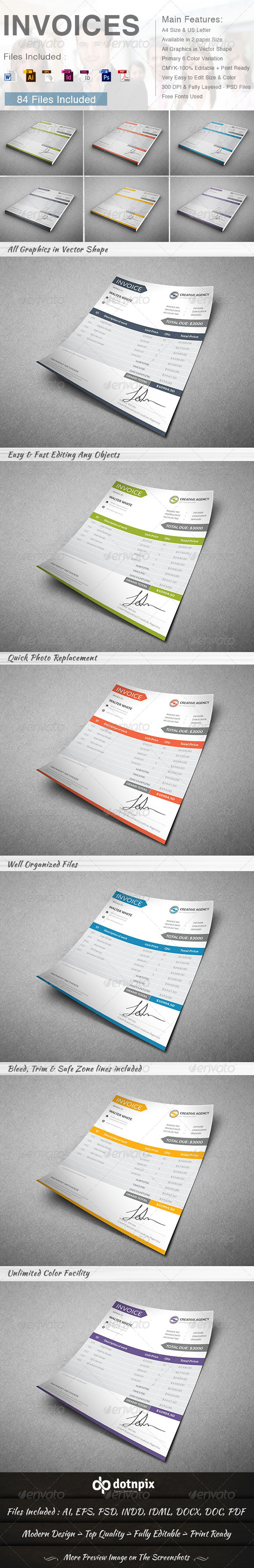 GraphicRiver Invoices 6 in 1 8719151