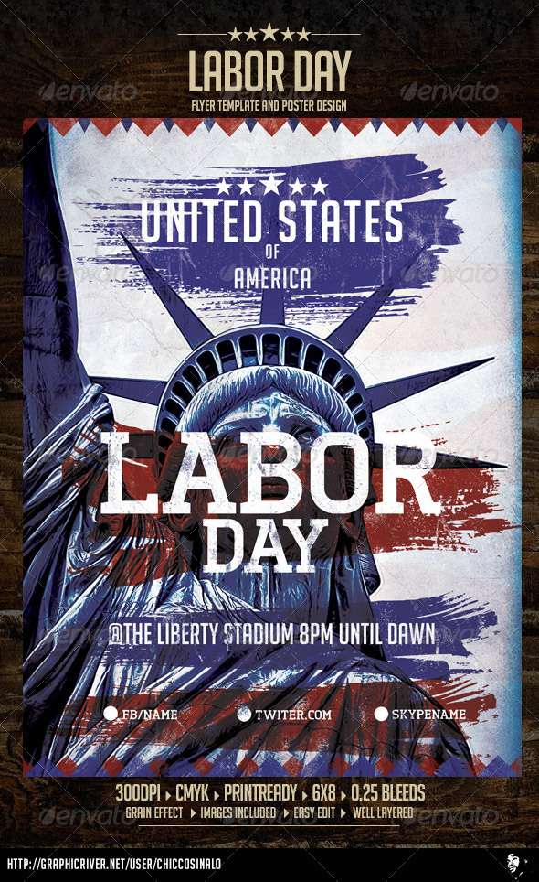 GraphicRiver Labor Day Flyer Template 8738680