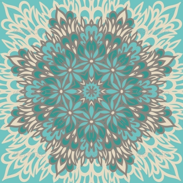 GraphicRiver Flower Mandala Abstract background 8756419