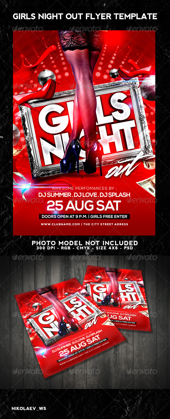 GraphicRiver Girls Night Out Flyer 8742661