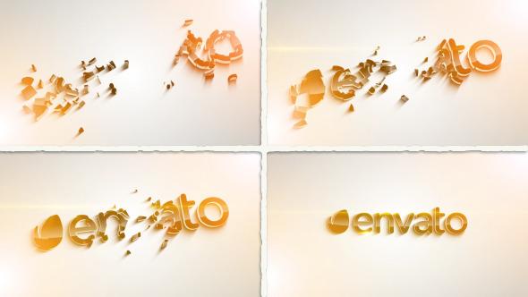 Clean 3D Logo Parts