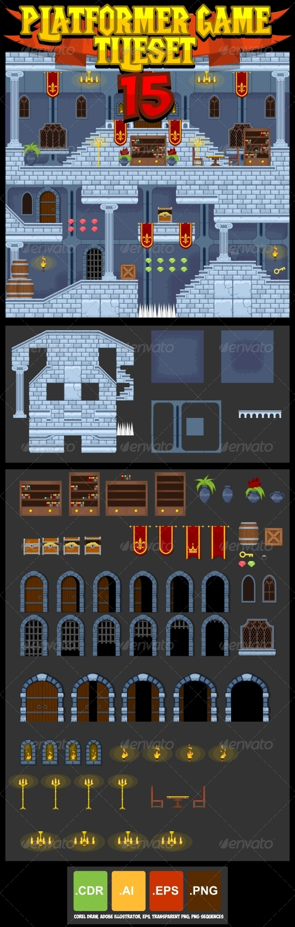 GraphicRiver Platformer Game Tile Set 15 8756461