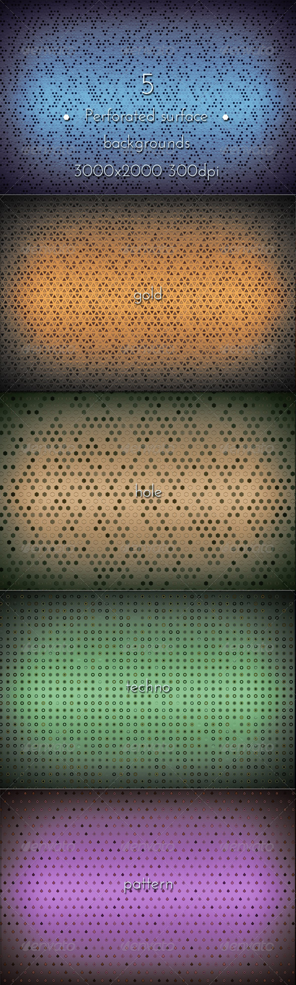 GraphicRiver Perforated Metal Grid Pattern 8756488