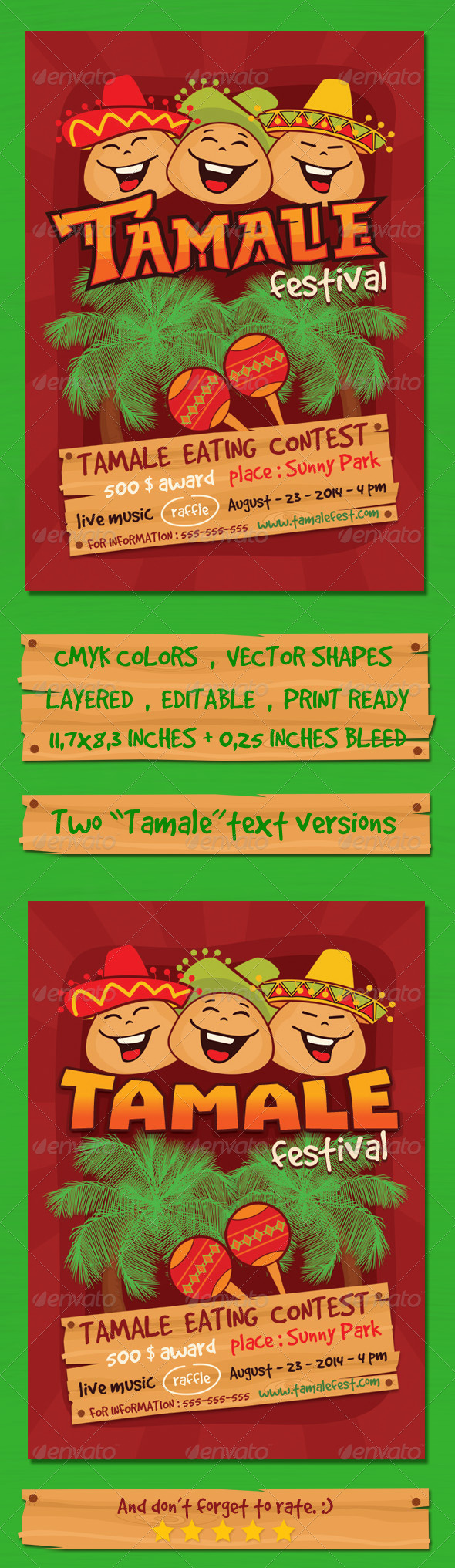GraphicRiver Tamale Festival Flyer Template 8746289