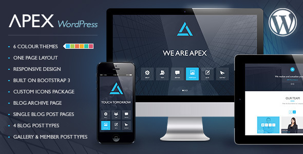 Apex Responsive WordPress Theme - Portfolio Creative