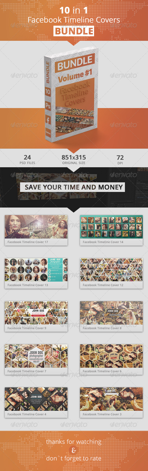 GraphicRiver Facebook Timeline Covers Bundle 1 8745867