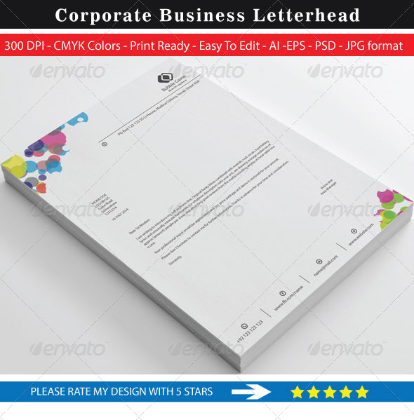 GraphicRiver Bubble Game Business Letterhead 8756762