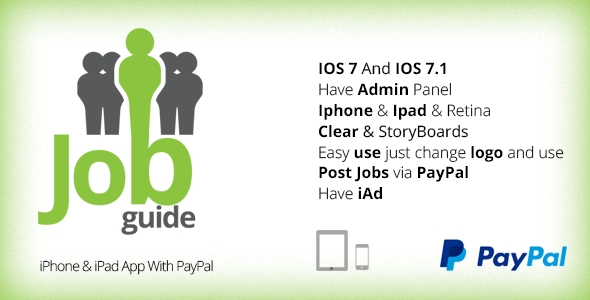 CodeCanyon Job Guide iPhone & iPad App With PayPal 8756772