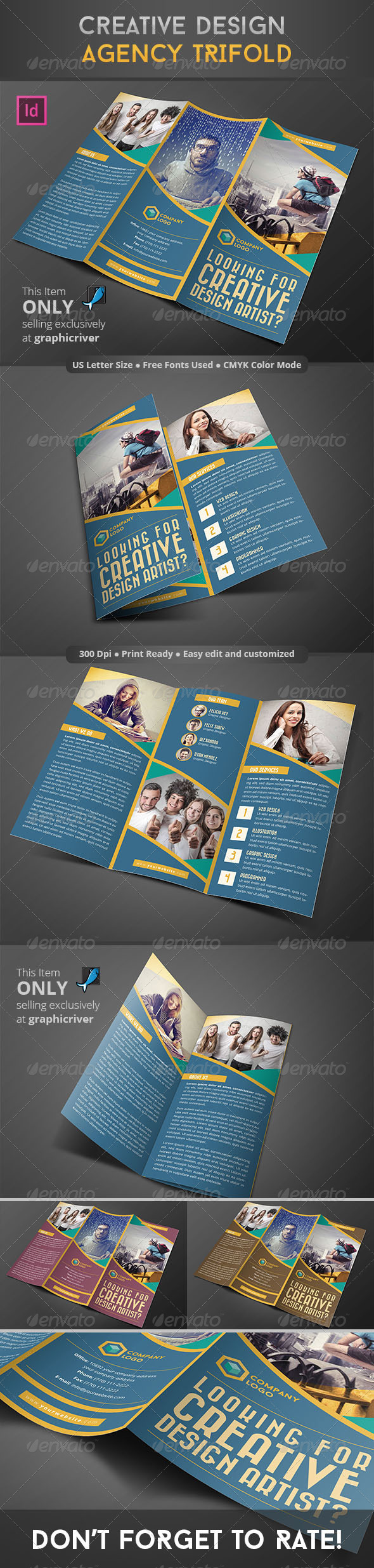 GraphicRiver Creative Design Agency Trifold 8756822