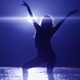 Dancing Girl with Anamorphic Flares - VideoHive Item for Sale