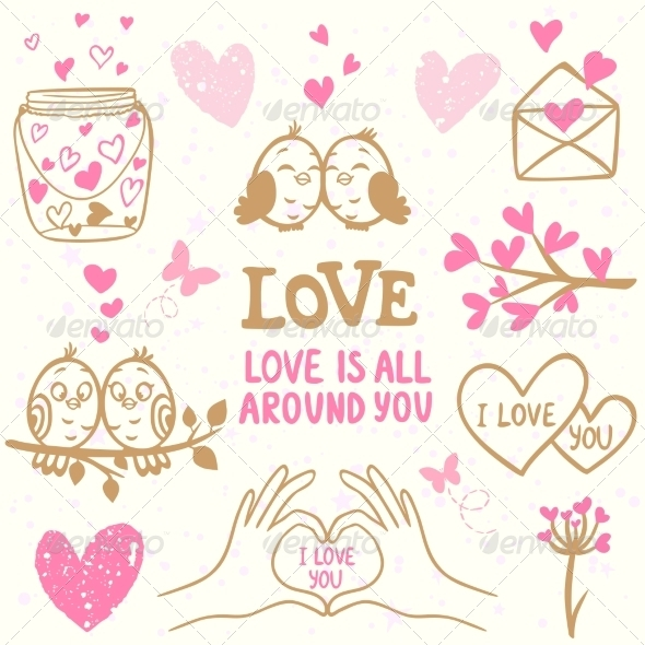 GraphicRiver Love Doodle 8756972