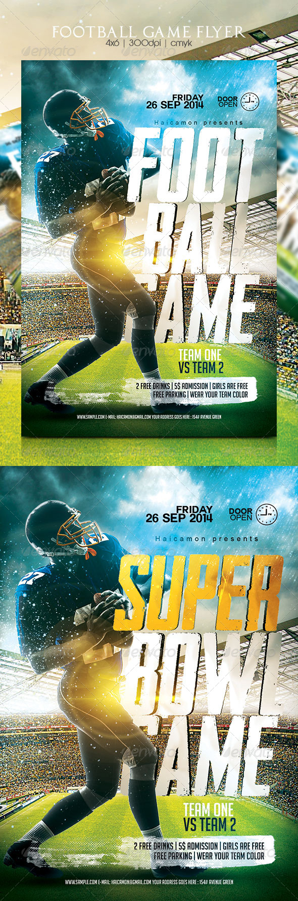 GraphicRiver Football Game Flyer 8757024