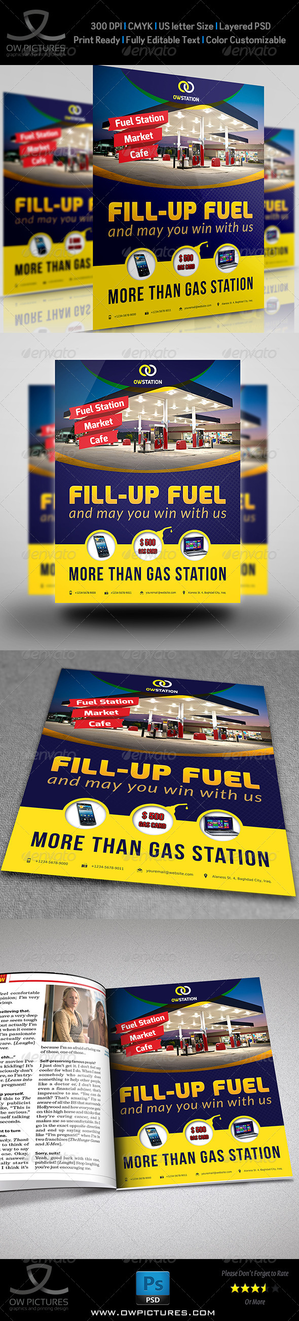 GraphicRiver Gas Station Flyer Template 8757679
