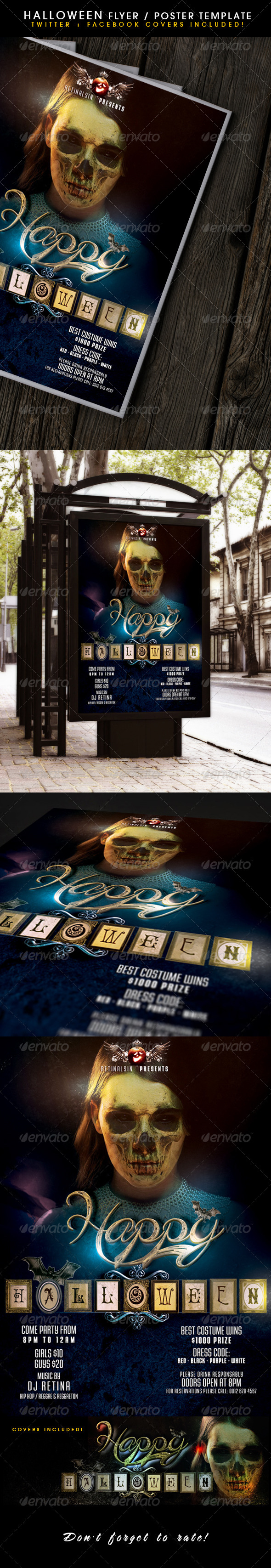 GraphicRiver Halloween Poster & Fb-Twitter Covers 8755761