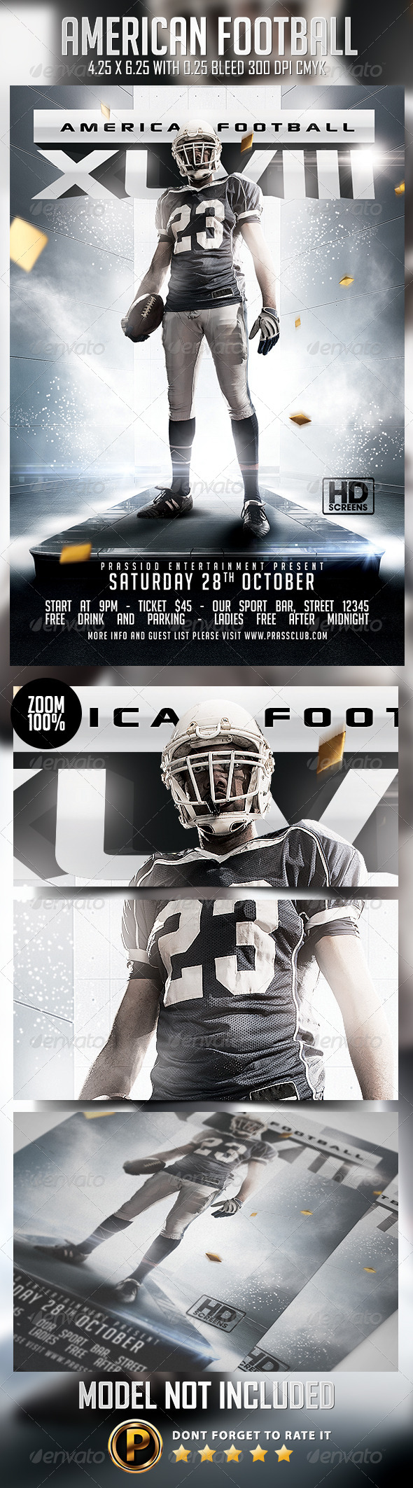 GraphicRiver American Football Flyer Template 8757959