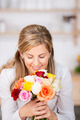 Woman With Flowers And eyes closed - PhotoDune Item for Sale