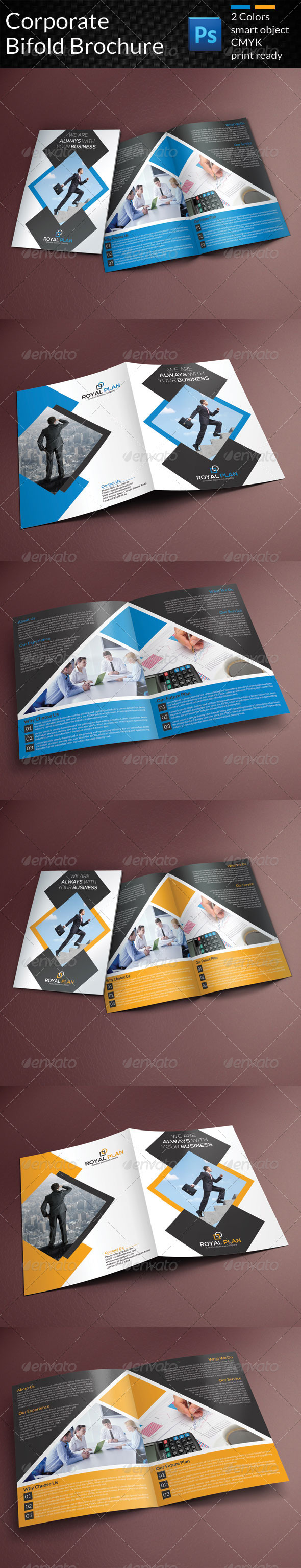 GraphicRiver Corporate Bifold Brochure 8758422