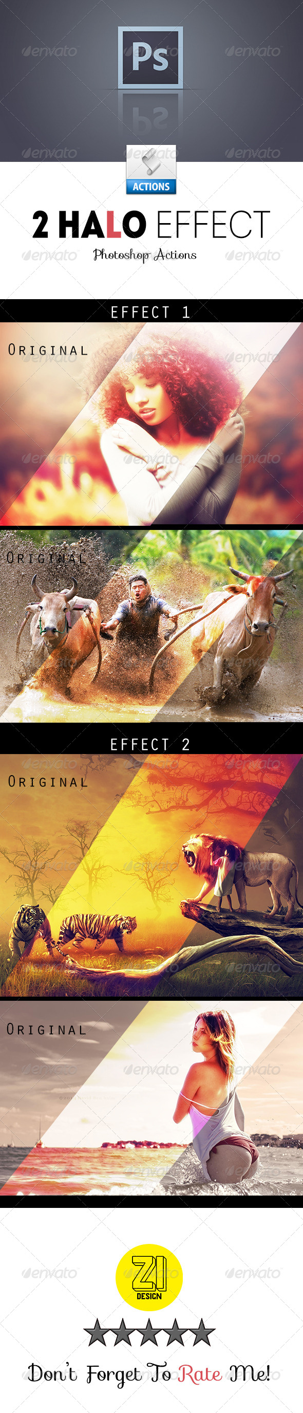 GraphicRiver 2 Halo Effect Photoshop Actions 8758459