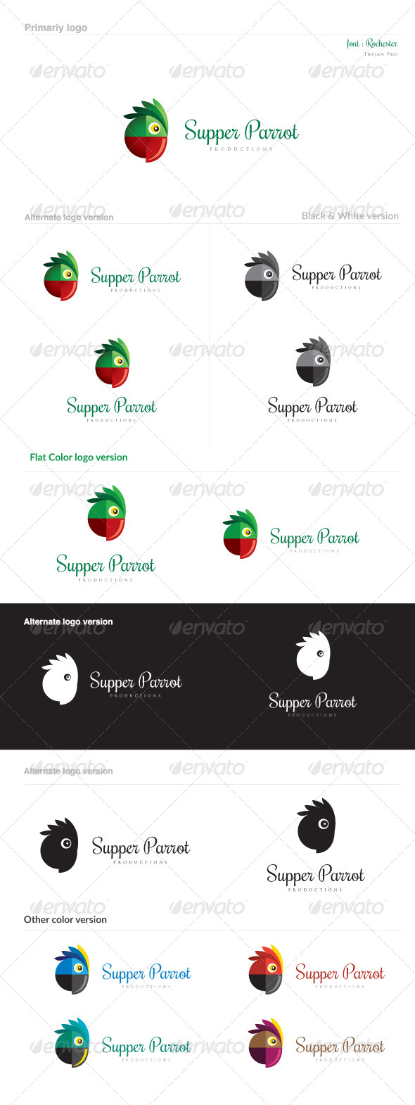 GraphicRiver Supper Parrot 8758844