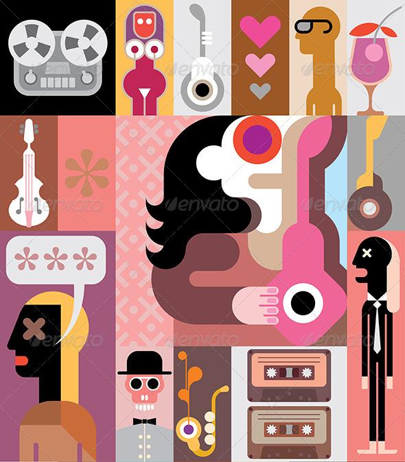 GraphicRiver Music Vector Illustration 8758994