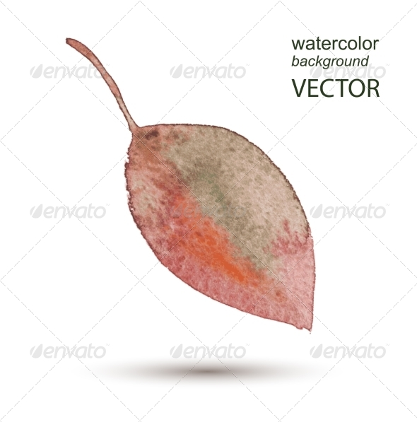 GraphicRiver Abstract Leaf Watercolor Hand Painted Background 8759147