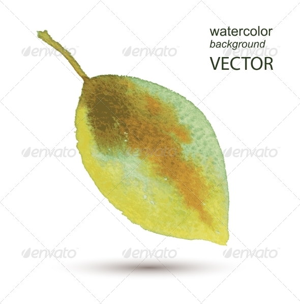 GraphicRiver Abstract Leaf Watercolor Hand Painted Background 8759148