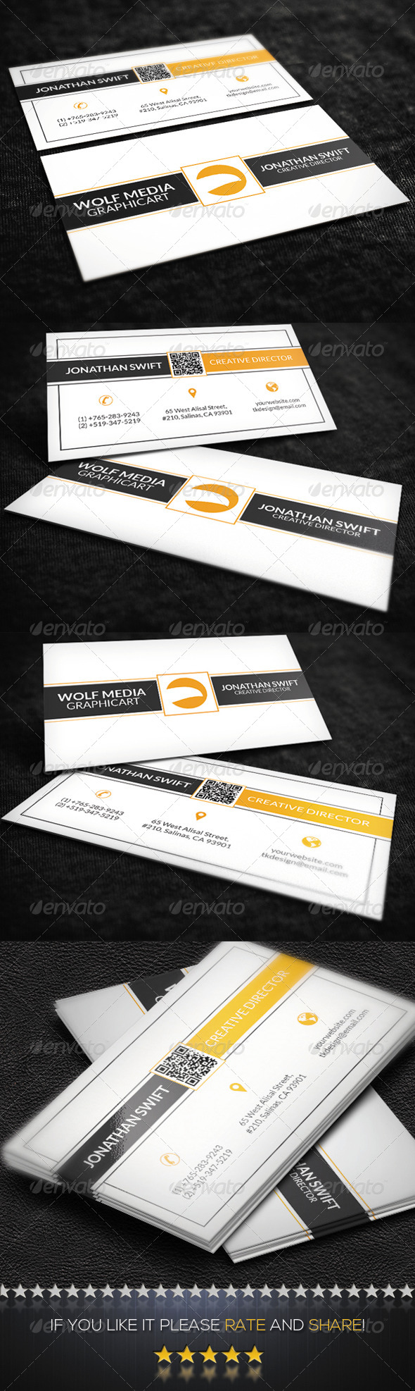 GraphicRiver Clean Corporate Business Card 8759154