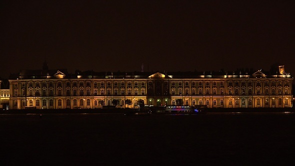 Hermitage in Petersburg White Night
