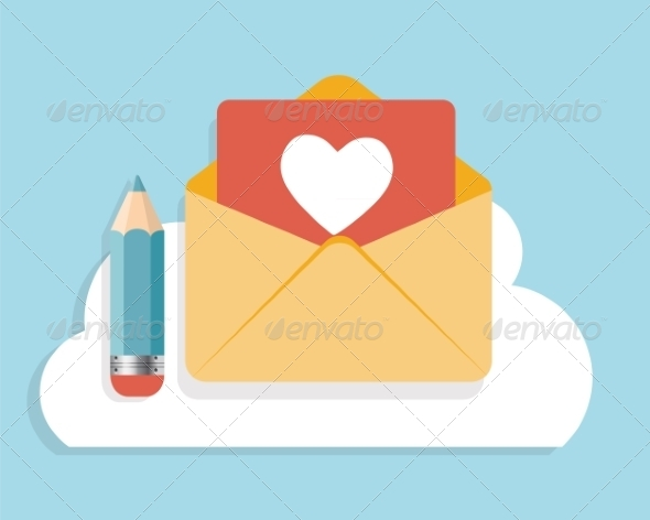 GraphicRiver Flat Design Concept Email Icon Vector Illustratio 8759249