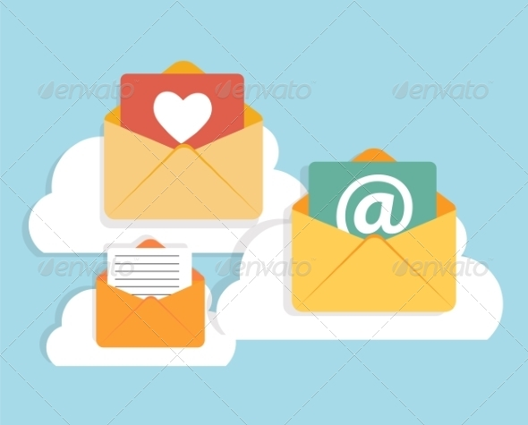GraphicRiver Flat Design Concept Email Icon Vector Illustration 8759250