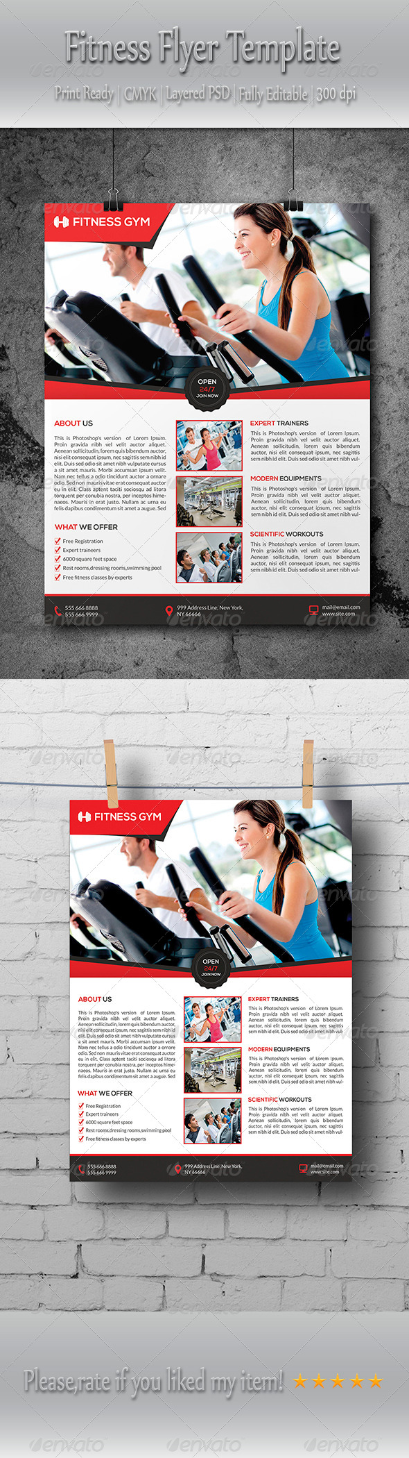 GraphicRiver Fitness Gym Flyer Template 8759459