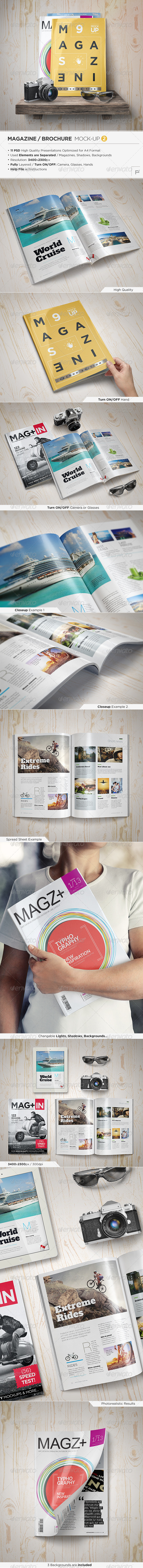 GraphicRiver Magazine Mock-Up Set 2 8759596