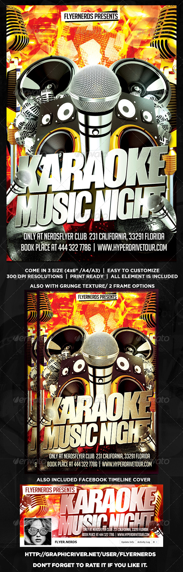 GraphicRiver Karaoke Music Night Flyer 8759814