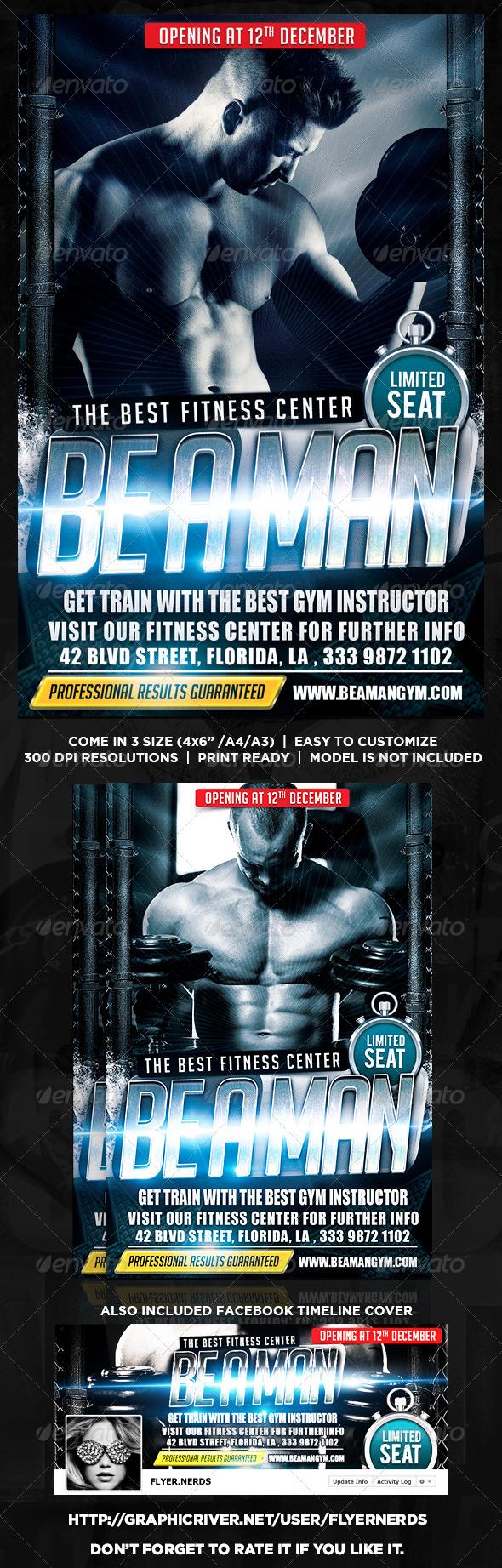 GraphicRiver Gymnasium Flyer 8759831