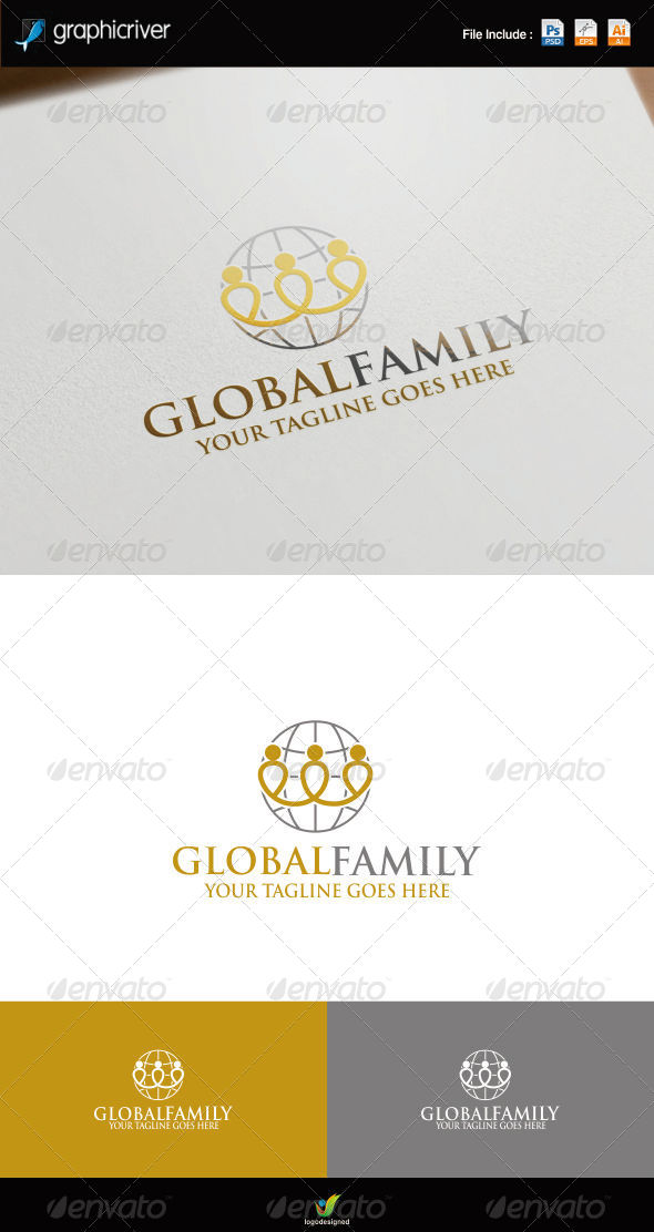 GraphicRiver Global Family Logo 8751740