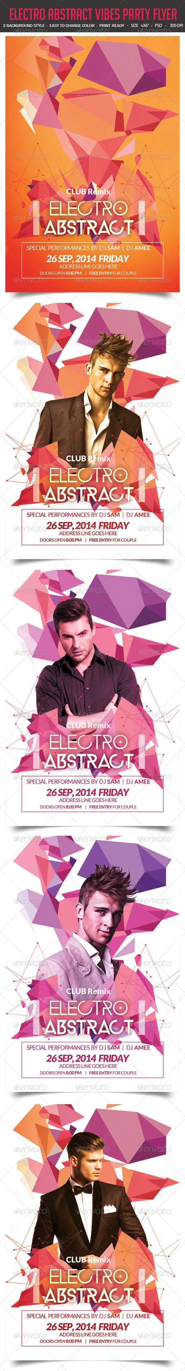 GraphicRiver Electro Abstract Vibes Party Flyer 8759877