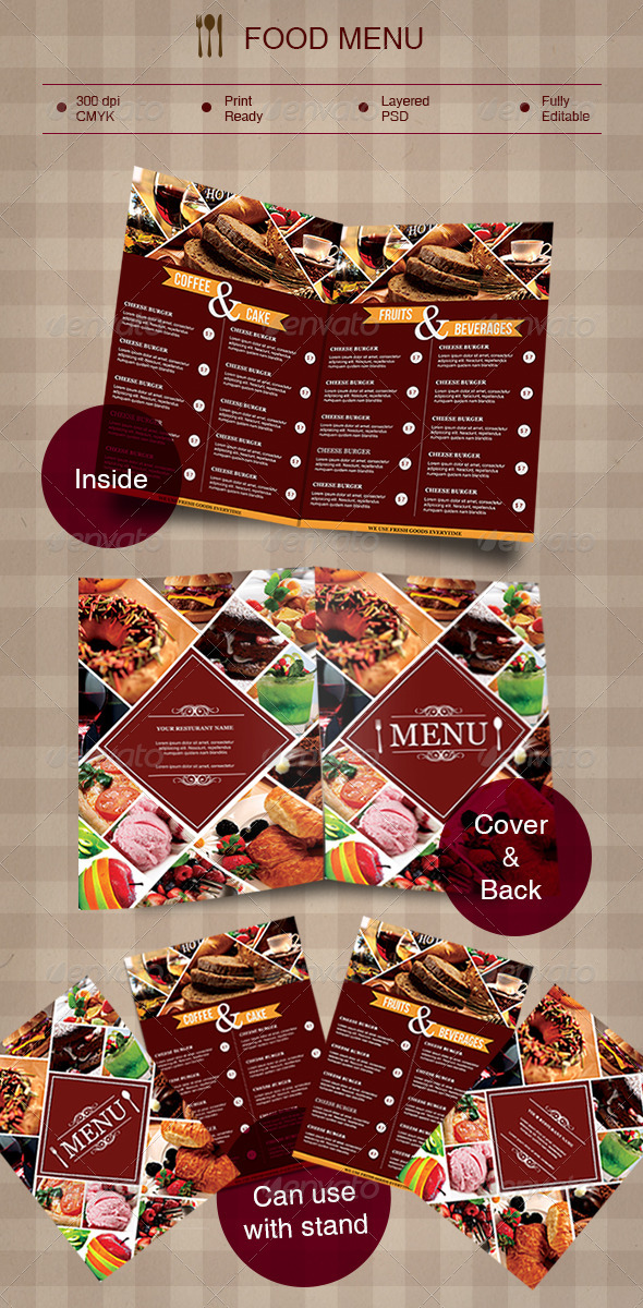 GraphicRiver Food Menu 8740021